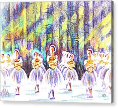 Dancers In The Forest Acrylic Print by Kip DeVore