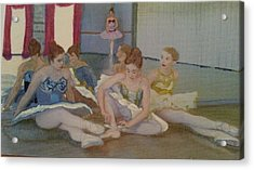 Dancers Take Five Acrylic Print by ARTography by Pamela Smale Williams