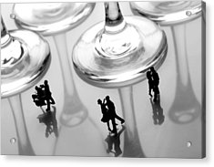 Dancing Among Glass Cups Acrylic Print by Paul Ge