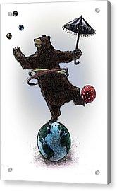 Dancing Bear Acrylic Print by Chris Van Es