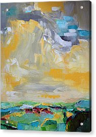 Dancing Clouds  Acrylic Print by Becky Kim