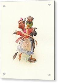 Dancing Ducks 02 Acrylic Print by Kestutis Kasparavicius
