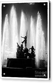 Dancing Fountain Acrylic Print by John Rizzuto