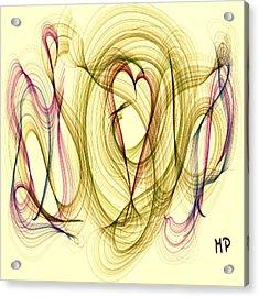 Dancing Heart Acrylic Print by Marian Palucci-Lonzetta