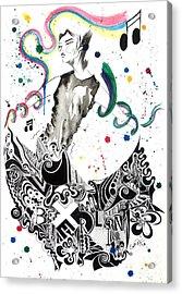 Dancing In Berlin Acrylic Print by Oddball Art Co by Lizzy Love