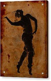Dancing In Greek Acrylic Print by Sarah Vernon