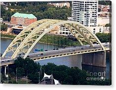 Daniel Carter Beard Bridge Cincinnati Ohio Acrylic Print by Paul Velgos