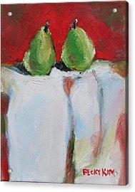 Danjour Pears  Acrylic Print by Becky Kim