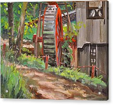 Dappled Road Acrylic Print by Spencer Meagher