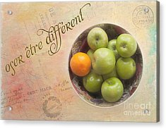 Dare To Be Different Acrylic Print by Kay Pickens