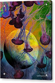 Dark Side Of The Moon 5d24939 Painterly M56 Acrylic Print by Wingsdomain Art and Photography