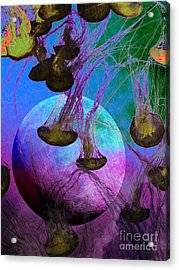 Dark Side Of The Moon 5d24939 Painterly P88 Acrylic Print by Wingsdomain Art and Photography