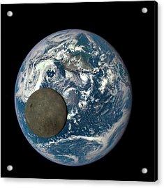 Dark Side Of The Moon Acrylic Print by Nasa/ Dscovr Epic Team