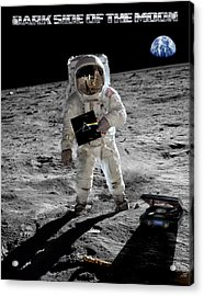 Dark Side Of The Moon Acrylic Print by Peter Chilelli