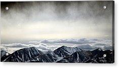 Dark Storm Cloud Mist  Acrylic Print by Barbara Chichester
