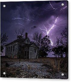 Dark Stormy Place Acrylic Print by Aaron J Groen