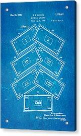 Darrow Monopoly Board Game 2 Patent Art 1935 Blueprint Acrylic Print by Ian Monk