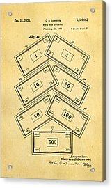 Darrow Monopoly Board Game 2 Patent Art 1935 Acrylic Print by Ian Monk