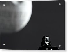 Darth And His Death Star Acrylic Print by Samuel Whitton