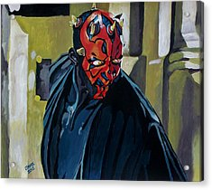 Darth Maul Acrylic Print by Jeremy Moore