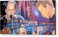 Dave Matthews And Tim Reynolds At Radio City Acrylic Print by Joshua Morton