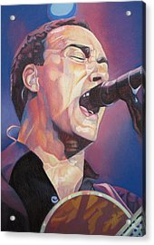 Dave Matthews Colorful Full Band Series Acrylic Print by Joshua Morton