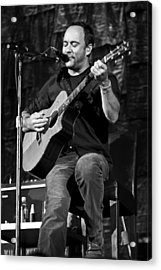 Dave Matthews On Guitar 9  Acrylic Print by Jennifer Rondinelli Reilly - Fine Art Photography