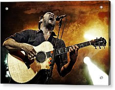 Dave Matthews Scream Acrylic Print by The  Vault - Jennifer Rondinelli Reilly