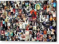 David Bowie Collage Acrylic Print by Taylan Soyturk