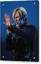 David Bowie Painting Acrylic Print by Paul Meijering
