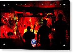 David Cook Los Angeles 187th Regiment Rakkasan Ne Desit Virtus Artwork Acrylic Print by David Cook Los Angeles