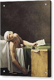 David, Jacques-louis 1748-1825 Marat Acrylic Print by Everett