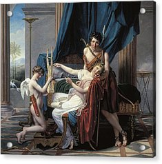 David, Jacques-louis 1748-1825. Sappho Acrylic Print by Everett
