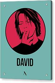 David Poster 3 Acrylic Print by Naxart Studio