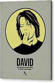 David Poster 4 Acrylic Print by Naxart Studio
