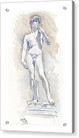 David Sculpture By Michelangelo Acrylic Print by Maddy Swan