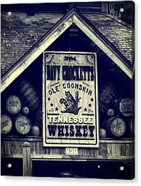 Davy Crocketts Tennessee Whiskey Acrylic Print by Dan Sproul