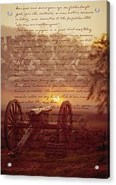 Dawn At Gettysburg Acrylic Print by Gary Grayson