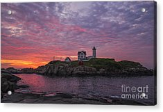 Dawn At The Nubble Acrylic Print by Steven Ralser
