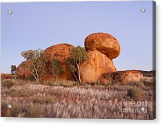 Dawn Devils Marbles Northern Territory Acrylic Print by Colin and Linda McKie
