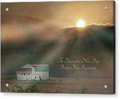 Dawn Acrylic Print by Lori Deiter