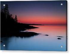 Dawn Over The North Shore Of Lake Acrylic Print by Lucas Payne