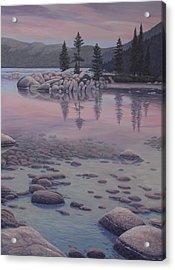 Dawn's Stillness Acrylic Print by James English Babcock