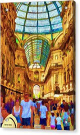 Day At The Galleria Acrylic Print by Jeff Kolker