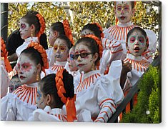 Day Of The Dead Acrylic Print by Diane Lent