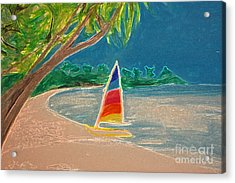 Day Sailer Acrylic Print by First Star Art
