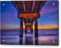 Daybreak At The Pier Acrylic Print by Marvin Spates