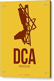 Dca Washington Airport Poster 3 Acrylic Print by Naxart Studio