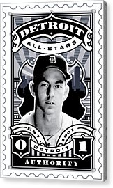 Dcla Al Kaline Detroit All-stars Finest Stamp Art Acrylic Print by David Cook Los Angeles