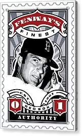 Dcla Carl Yastrzemski Fenway's Finest Stamp Art Acrylic Print by David Cook Los Angeles